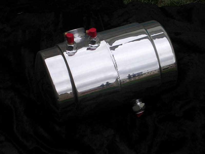 polished gas tank